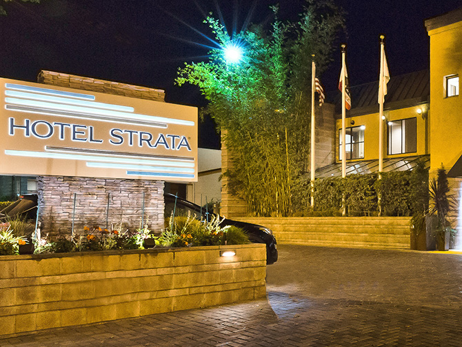 Accommodations at Hotel Strata, Mountain View
